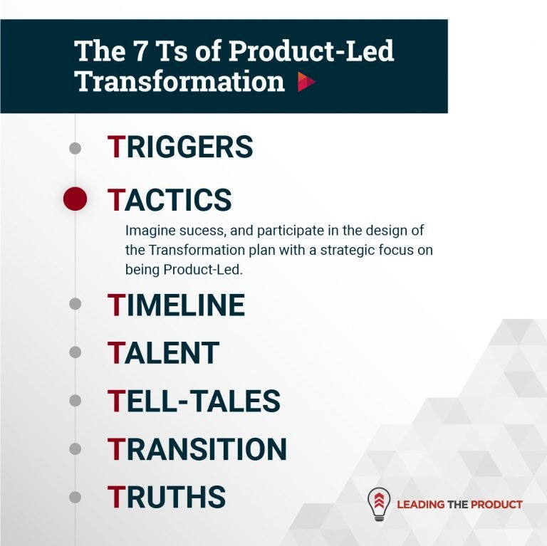 TACTICS: The 7 Ts Of Product-Led Transformation