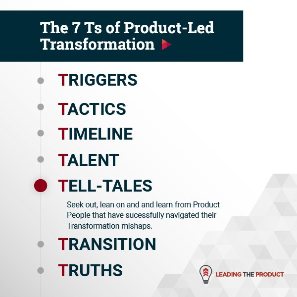 TELL-TALES: The 7Ts Of Product-Led Transformation