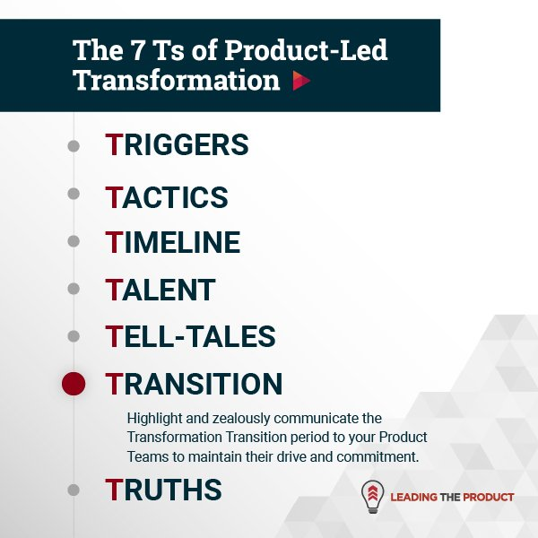 TRANSITION: The 7Ts Of Product-Led Transformation