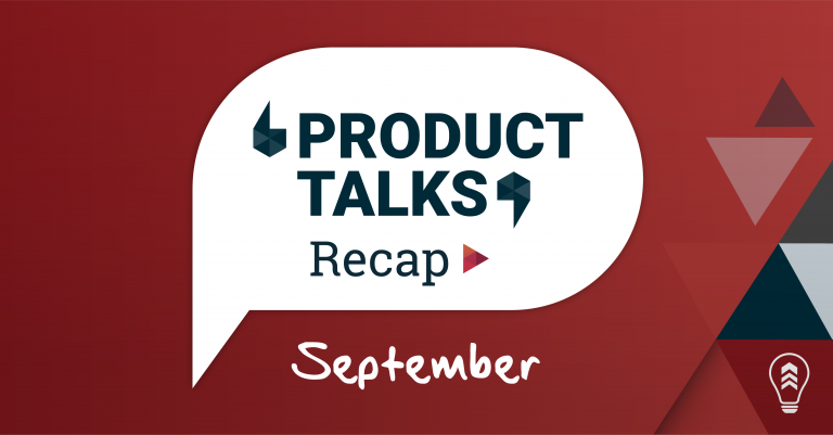 This Month in Product Talks: September